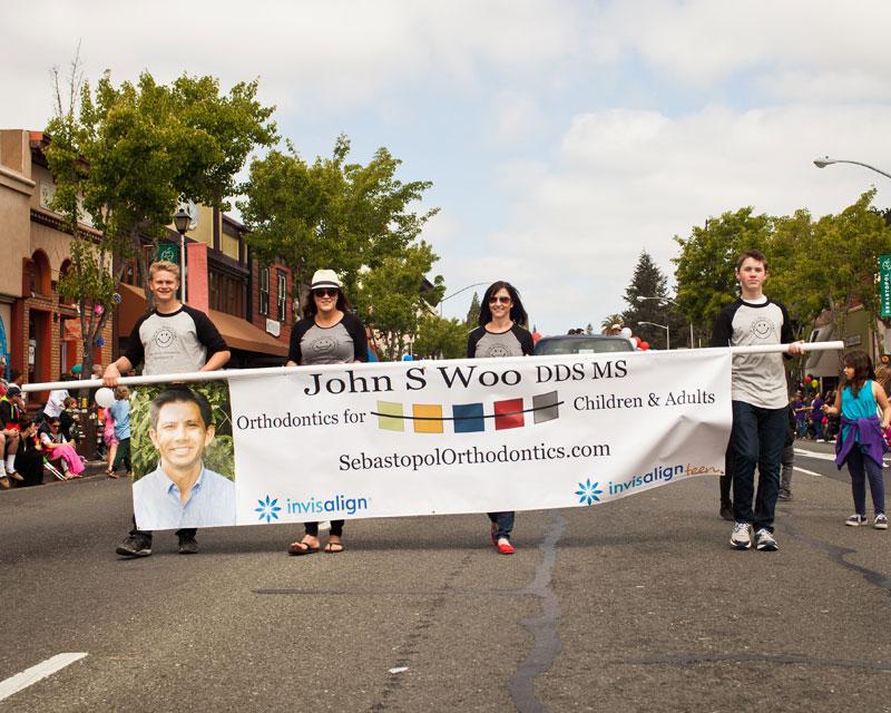 Dr. John Woo - Sebastopol Orthodontics - Apple Blossom Parade Sebastopol CA